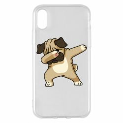 Чохол для iPhone X/Xs Pug Swag