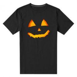 Чоловіча стрейчева футболка Pumpkin face features