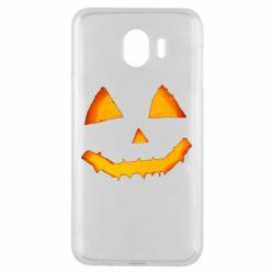 Чохол для Samsung J4 Pumpkin face features