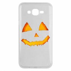 Чохол для Samsung J7 2015 Pumpkin face features