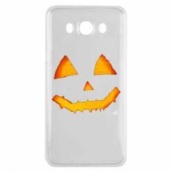Чохол для Samsung J7 2016 Pumpkin face features
