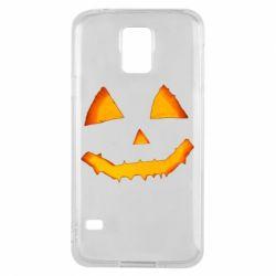Чохол для Samsung S5 Pumpkin face features