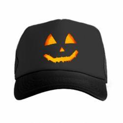 Кепка-тракер Pumpkin face features