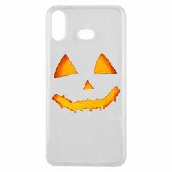 Чохол для Samsung A6s Pumpkin face features