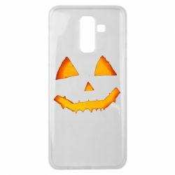 Чохол для Samsung J8 2018 Pumpkin face features