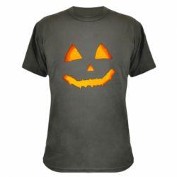Камуфляжна футболка Pumpkin face features