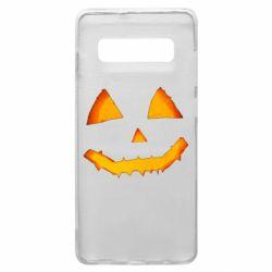 Чохол для Samsung S10+ Pumpkin face features