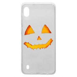 Чохол для Samsung A10 Pumpkin face features