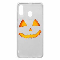 Чохол для Samsung A30 Pumpkin face features