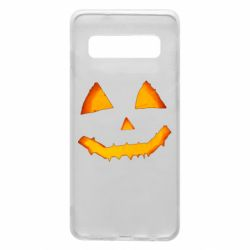 Чохол для Samsung S10 Pumpkin face features