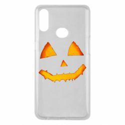 Чохол для Samsung A10s Pumpkin face features