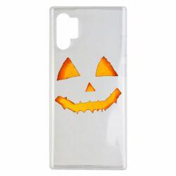 Чохол для Samsung Note 10 Plus Pumpkin face features