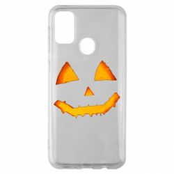 Чохол для Samsung M30s Pumpkin face features