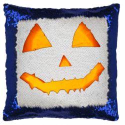 Подушка-хамелеон Pumpkin face features