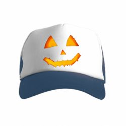 Дитяча кепка-тракер Pumpkin face features