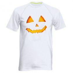 Чоловіча спортивна футболка Pumpkin face features