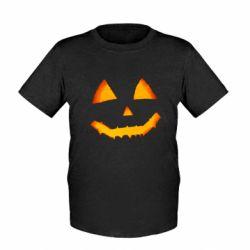 Дитяча футболка Pumpkin face features