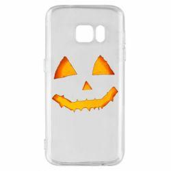 Чохол для Samsung S7 Pumpkin face features
