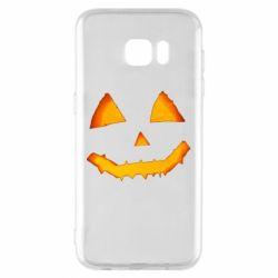 Чохол для Samsung S7 EDGE Pumpkin face features