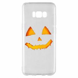Чохол для Samsung S8+ Pumpkin face features