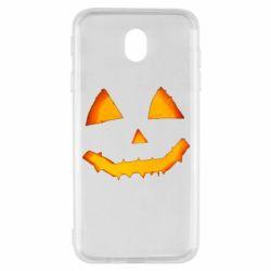 Чохол для Samsung J7 2017 Pumpkin face features
