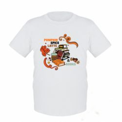 Детская футболка Pumpkin Spice Latte & Books