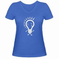 Жіноча футболка з V-подібним вирізом Punk3
