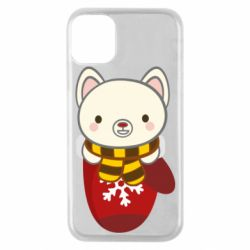 Чехол для iPhone 11 Pro Puppy in a mitten