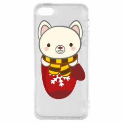 Чехол для iPhone5/5S/SE Puppy in a mitten