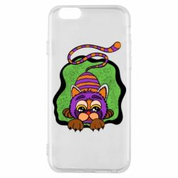 Чохол для iPhone 6/6S Purple striped cat