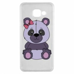 Чохол для Samsung A3 2016 Purple Teddy Bear