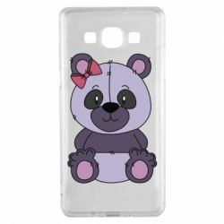 Чохол для Samsung A5 2015 Purple Teddy Bear