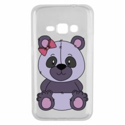 Чохол для Samsung J1 2016 Purple Teddy Bear