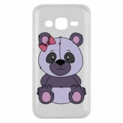 Чохол для Samsung J2 2015 Purple Teddy Bear
