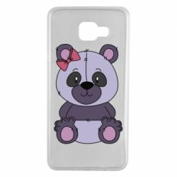 Чохол для Samsung A7 2016 Purple Teddy Bear