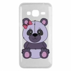 Чохол для Samsung J3 2016 Purple Teddy Bear