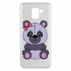 Чохол для Samsung J6 Purple Teddy Bear