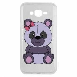 Чохол для Samsung J7 2015 Purple Teddy Bear