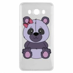 Чохол для Samsung J7 2016 Purple Teddy Bear