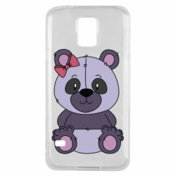 Чохол для Samsung S5 Purple Teddy Bear