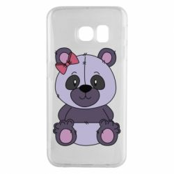 Чохол для Samsung S6 EDGE Purple Teddy Bear