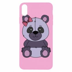 Чохол для iPhone X/Xs Purple Teddy Bear
