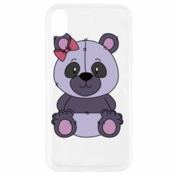 Чохол для iPhone XR Purple Teddy Bear