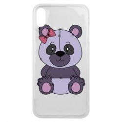 Чохол для iPhone Xs Max Purple Teddy Bear