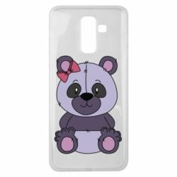 Чохол для Samsung J8 2018 Purple Teddy Bear