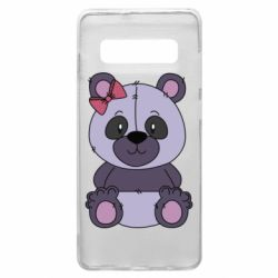 Чохол для Samsung S10+ Purple Teddy Bear