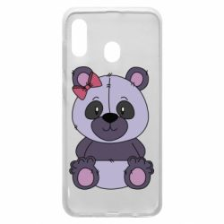 Чохол для Samsung A20 Purple Teddy Bear