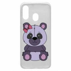 Чохол для Samsung A40 Purple Teddy Bear