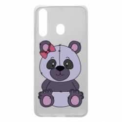 Чохол для Samsung A60 Purple Teddy Bear