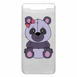 Чохол для Samsung A80 Purple Teddy Bear